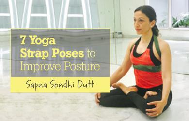 7 Yoga Strap Poses to Improve Posture [Infographic]